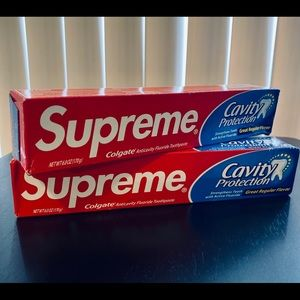 Supreme X Colgate toothpaste 2 pack